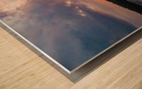 Grafton, IL Sunset Wood print