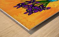IRIS BOUQUET ON YELLOW Wood print