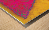INVERTED PINK TRIANGLE Wood print