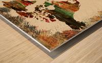World Map Decorative Painting Wood print