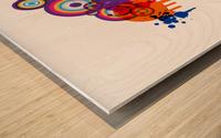blob Wood print