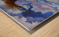 Windy Flutist Wood print