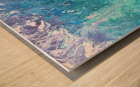 Abstract  Wave Painting Wood print