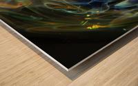 GalaxyInGlassV001 Wood print