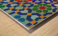 MOROCON TILES  1 Wood print