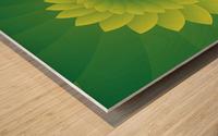 Shiny Greeny Art Wood print