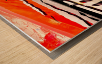 Ripples Wood print