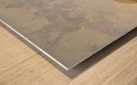 Rivierlandschap met ruiters Wood print