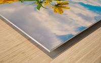 Sunny flower Wood print
