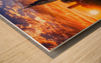 Nashville Skyline and sunset Wood print