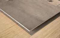 B&W Jesus Saves Building - DTLA Wood print