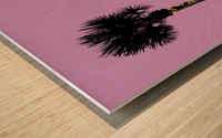 Graphic Art PALM TREES LA | pink Wood print