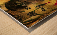 Asia Woman Wood print