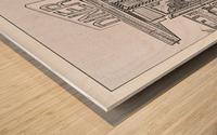 Broadway Diner Wood print