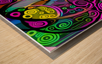 Colorful Abstract Ornament Wood print