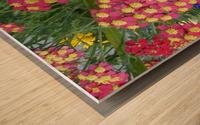 Red Flowers Wood print