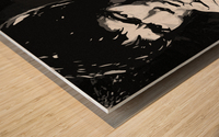 Be Water Charcol Wood print