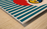 The Observer Wood print