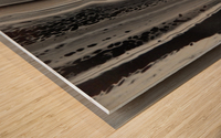 BLACK MARBLE Wood print
