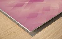 Diamond Shape Pink Art Wood print