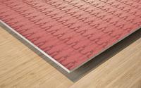 Arabic Pink Art Wood print