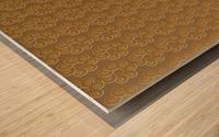 Swirl Flower Seamless Pattern Artwork Wood print