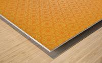 Orange Seamless Pattern Art Wood print