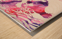 Colorful Wave Of Watercolour World Map Wood print