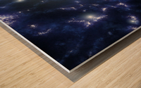 Population III stars clustered together into what will later become galaxies. Wood print