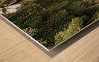 Brave Chickadee Wood print
