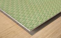 Green Flower Seamless Pattern Background Wood print