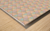 Hexagon Color Art Pattern Wood print