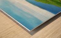 Faroe green field Wood print