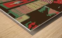 The Striped Sofa -- Red & Verdigris Wood print