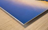 Sunset in Mijas Wood print