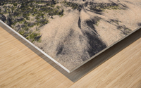 The Ocean Sand Wood print