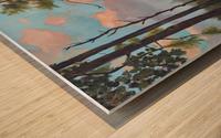 New Pink Knob Wood print