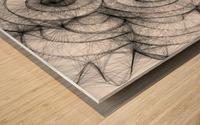 Circled in infiniti Wood print