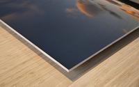 Two Jack Lake Sunset Wood print