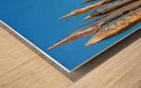 WOODEN PILLARS Wood print
