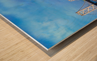 San Francisco on Blue Wood print