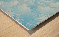 Blue Snowflake Spiral Wood print