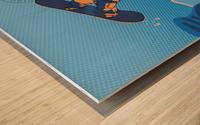 snowboard highfive Wood print