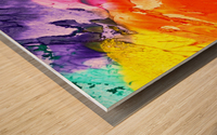 abstract, art, background, paint, texture, colorful, red, color, blue, watercolor, design, canvas, artistic, yellow, blot, Wood print