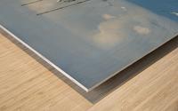 Aqua Wood print