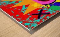 Kinpi The Bandaid Wood print