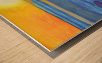 Sunset and ocean waves Wood print