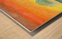 Sea surf at sunset Wood print