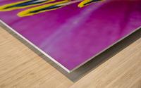 Macro of Purple Day Lily Stamen Wood print