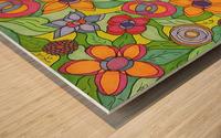 Reflecting Flowers Wood print